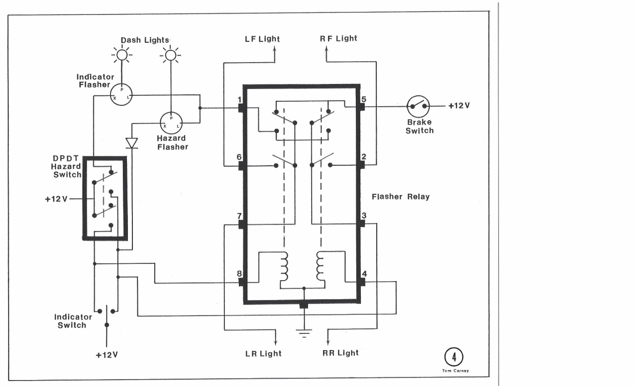 hazard flasher relay wiring diagram