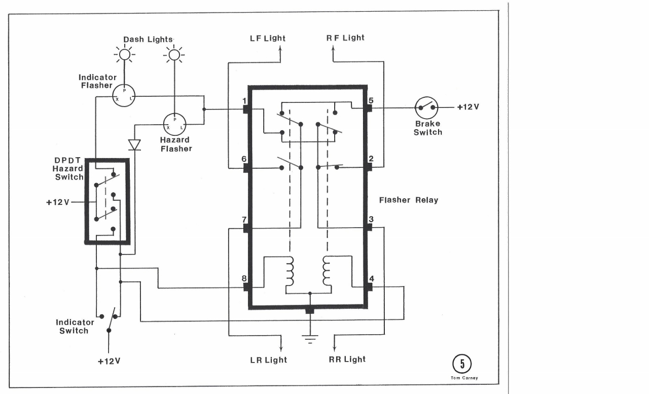Relaybox on hazard flasher circuit diagram